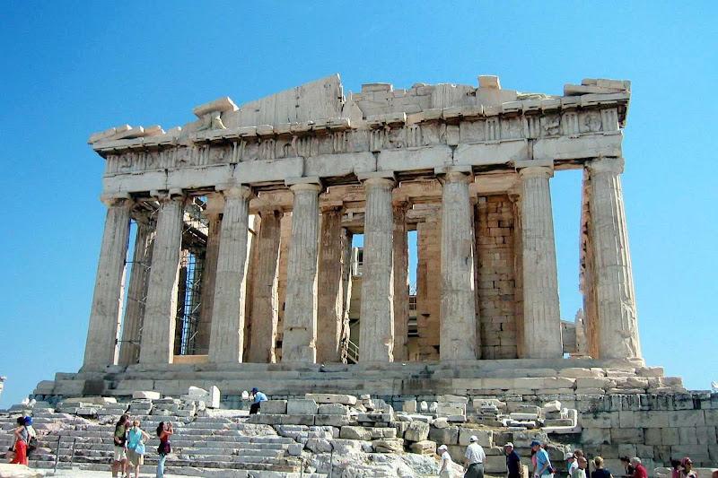The iconic Parthenon in the Acropolis, Athens, Greece.