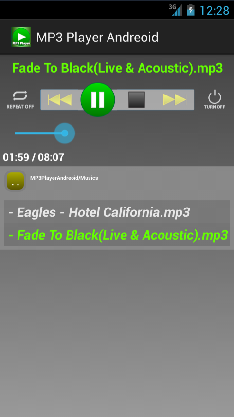 MP3 Player Andreoid - screenshot