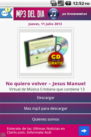 Música Cristiana en MP3 - screenshot