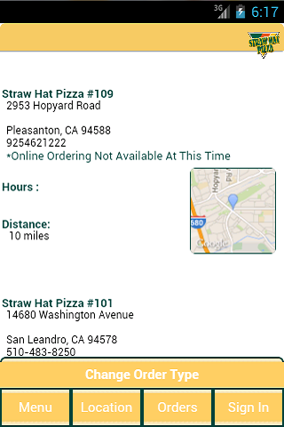 Straw Hat Pizza- screenshot