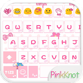 Pink Knot Emoji Keyboard Theme Android APK Download Free By Colorful Design