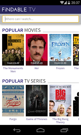 TV Movie Search for US UK