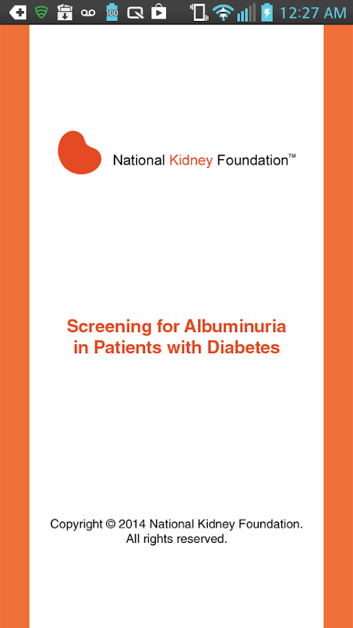 Screening for Albuminuria- screenshot