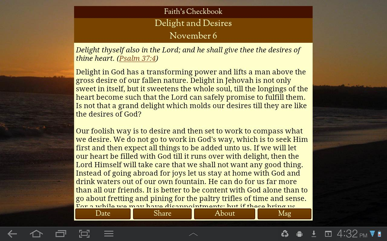 Faith's Checkbook Devotional- screenshot