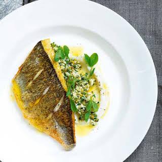 Pan-Fried Fish with Cauliflower.
