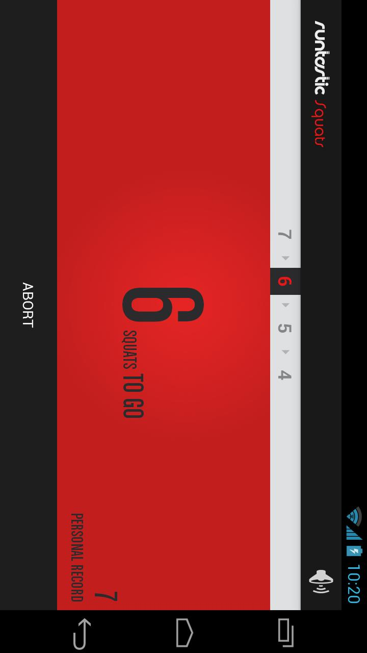 Runtastic Squats Workout PRO Screenshot 2