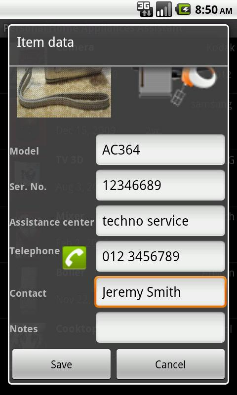 Home Appliances Assistant Demo- screenshot