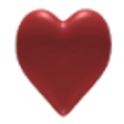 Gem Heart 3D icon