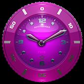 Clock Widget Pink Star