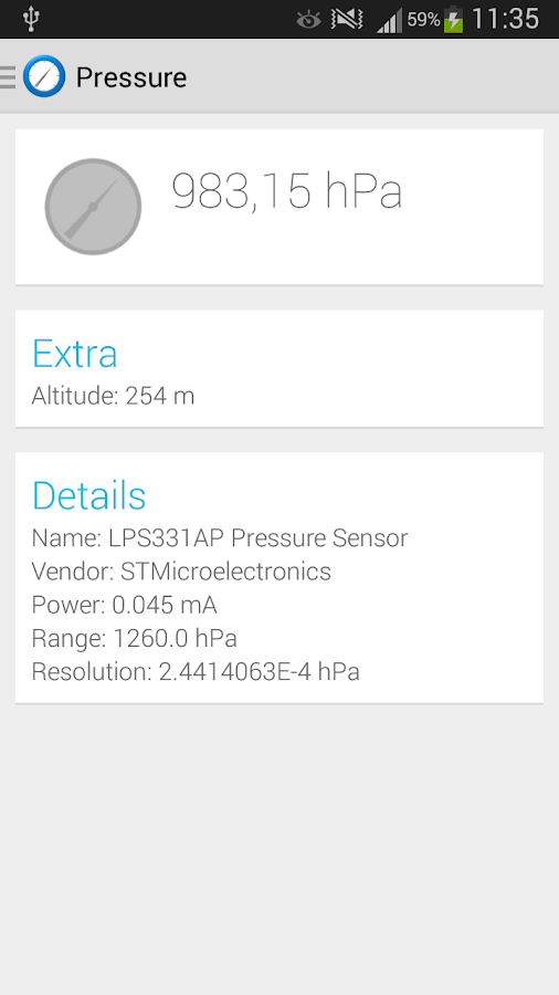 Sensor Sense - screenshot