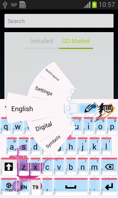 Baby Shower Keyboard - screenshot
