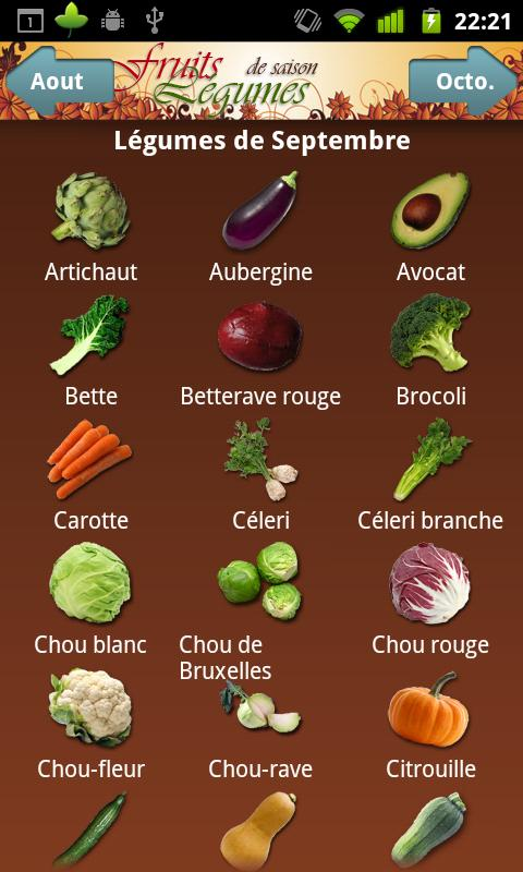 Super Fruits et Légumes de Saison - Android Apps on Google Play BQ33