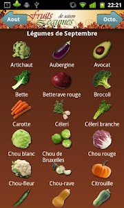 Fruits et Légumes de Saison screenshot 0