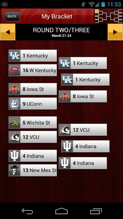 ESPN Bracket Bound 2013 - screenshot