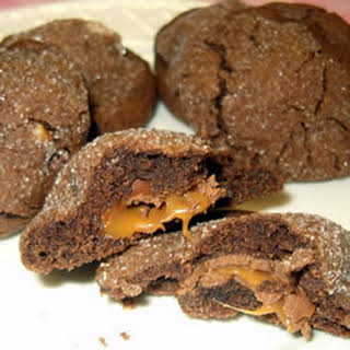Caramel Chocolate Cookies.