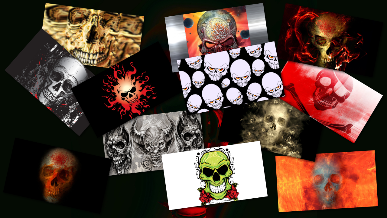 EVIL SKULLS HD LIVE WALLPAPER - screenshot