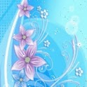 Azure Background Pink Flowers
