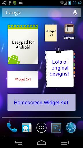 Easypad sticky-notes widget