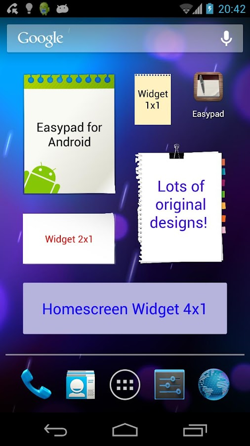 Easypad (sticky-notes widget) - screenshot
