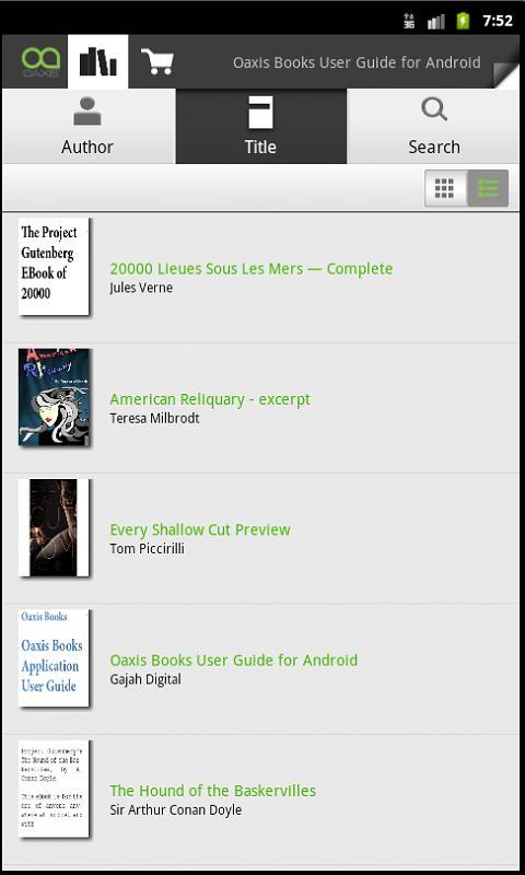 OaxisBooks- screenshot