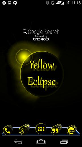Yellow Eclipse Launcher Theme