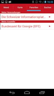 Swissbau-App 2016 screenshot