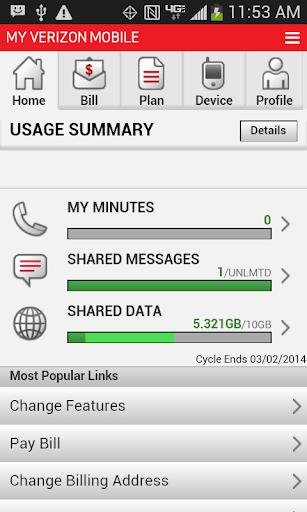 My Verizon Mobile Nexus