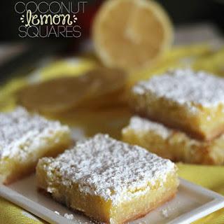 Coconut Lemon Squares.