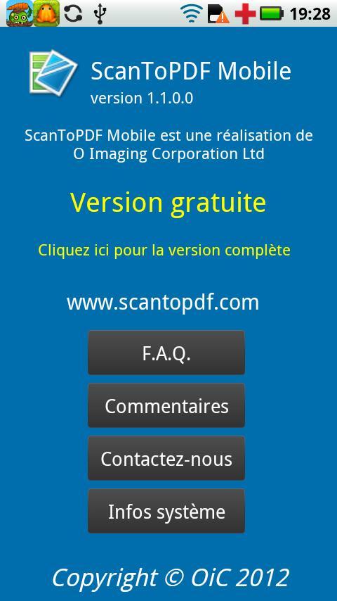ScanToPDF Mobile Free - screenshot