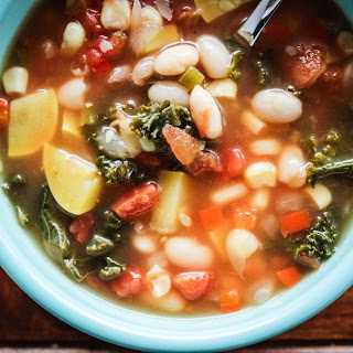Winter White Bean Soup With Kale And Yellow Squash