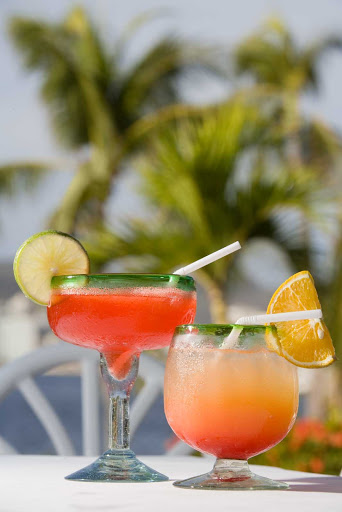 Acapulco-libations - Cool drinks on a warm day in Acapulco.