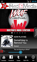 Screenshot of WAAF - Boston's Rock Station