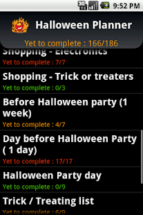 Halloween Planner - screenshot thumbnail