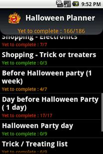 Halloween Planner - screenshot thumbnail