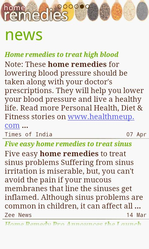 Home Remedies - screenshot