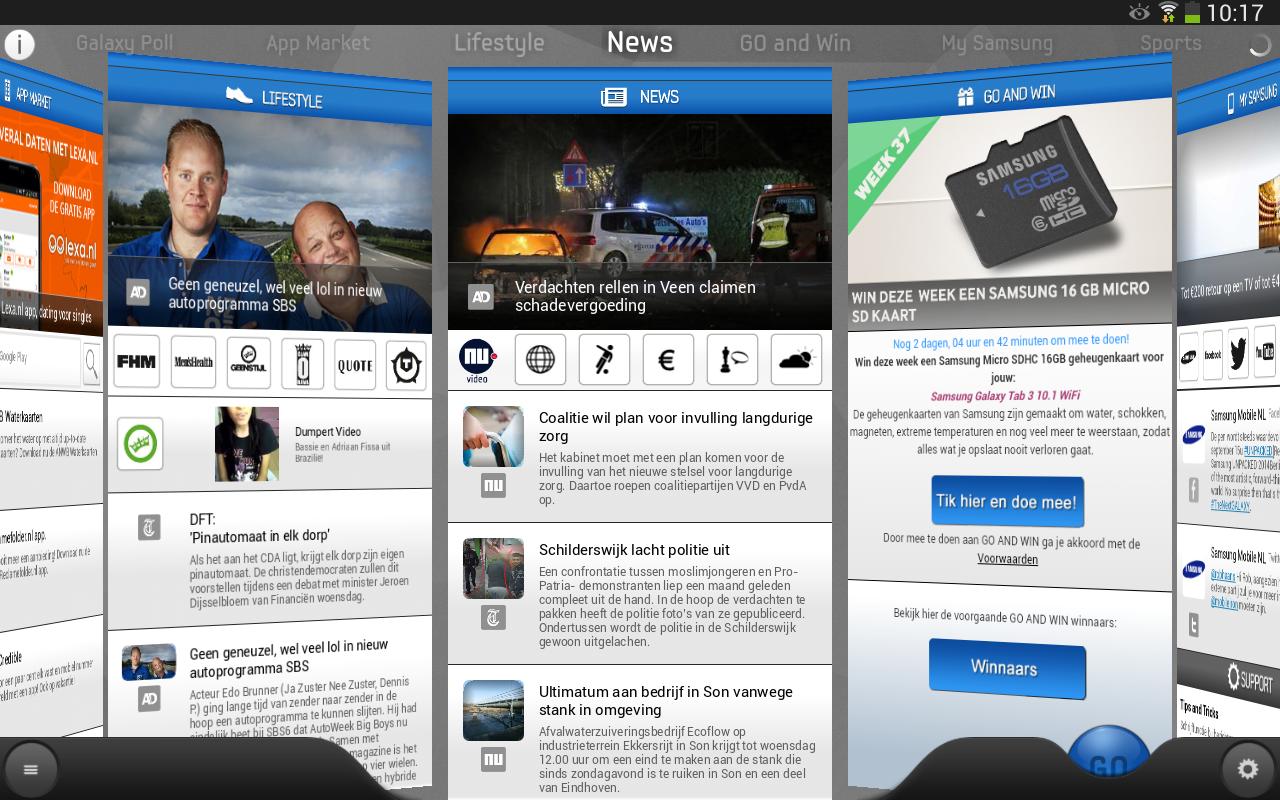 Samsung GO - screenshot