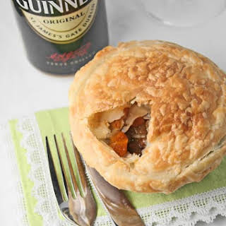 Individual beef & Guinness pot pies.