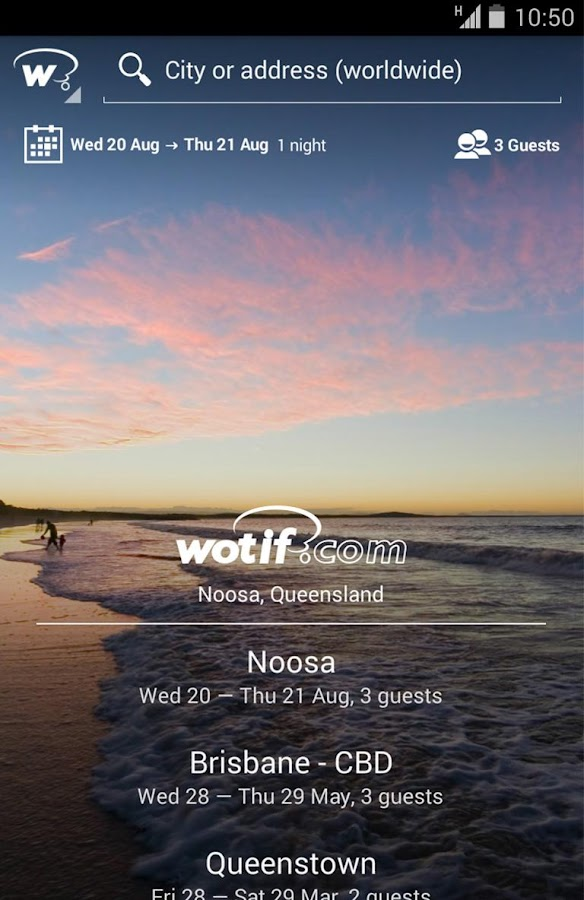 Wotif hotel bookings on the go - screenshot