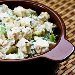 Chicken Salad with Basil and Parmesan.