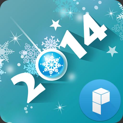 HAPPY 2014 런처플래닛 테마 LOGO-APP點子