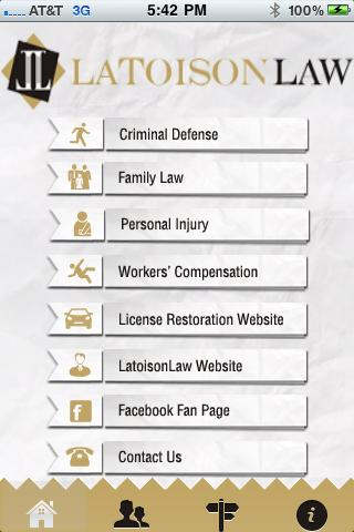 Latoison Law App- screenshot