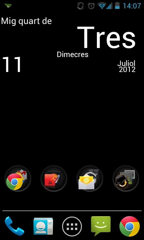Catalan Clock- screenshot
