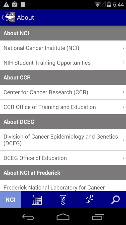 NCI@NIH Summer Internship Prgm - screenshot
