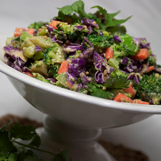 Chopped Broccoli Salad {with Tahini Soy Dressing}.