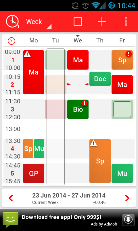 TimeTable++ Schedule - screenshot