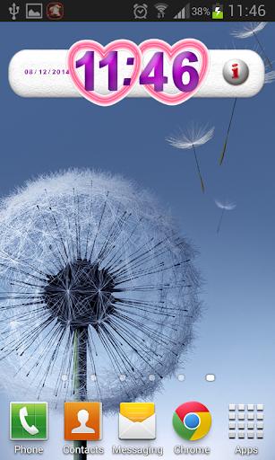 玩免費個人化APP|下載红心 – 时钟小部件 app不用錢|硬是要APP