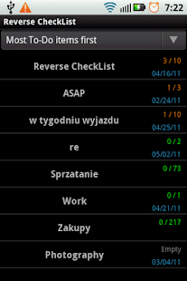 Reverse CheckList- screenshot thumbnail