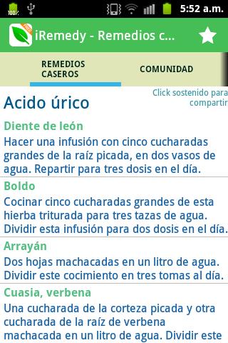 Remedios caseros - iRemedy