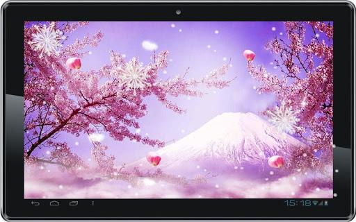 玩個人化App|Winter Sakura live wallpaper免費|APP試玩