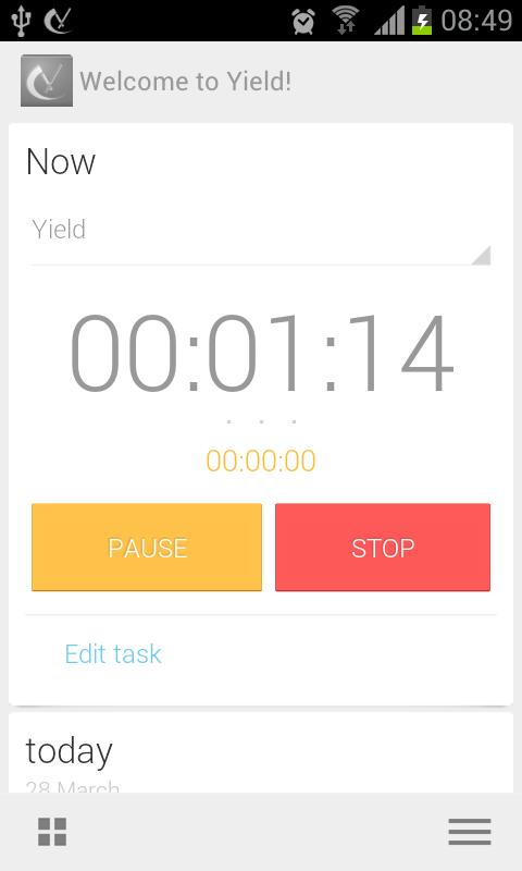 Yield Timesheet (Beta) - screenshot
